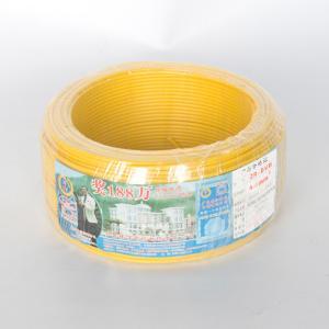 珠江 阻燃铜芯单塑多股线 ZR-BVR 4平方 黄 100M