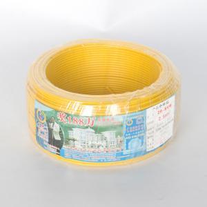 珠江 阻燃铜芯单塑多股线 ZR-BVR 2.5平方 黄 100M