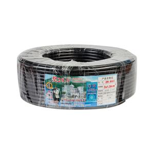 珠江 阻燃铜芯多股护套线 ZR-RVV 3*1.5 黑 100M