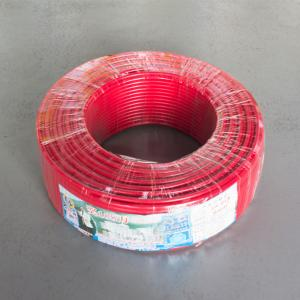 珠江 阻燃铜芯单塑多股线 ZR-BVR 6平方 红 100M