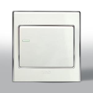 联塑电气 L51炫影 二、三极带开关双控插座 L51/10US4/2 银色