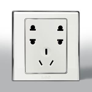 联塑电气 L51炫影单相双二.单三极插座 l51/u2s 银色