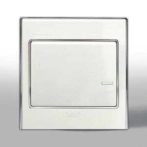 西门子开关插座面板远景系列雅白小跷板五孔电源插座带独立开关