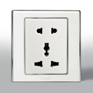 联塑电气 L51炫影万用插座+二极插座 l5128u 银色