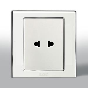 联塑电气 L51炫影单联二极扁圆两用插座 l51u 银色