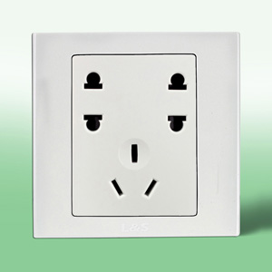 联塑电气 单相双二级 单三级插座 LV/U2S