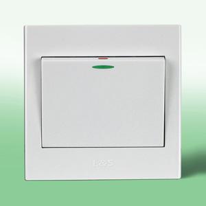 西門子開關插座面板遠景系列雅白小蹺板五孔電源插座帶獨立開關