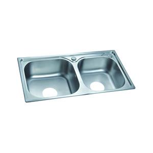 联塑益高 水槽双槽201不锈钢 PSF005D-F
