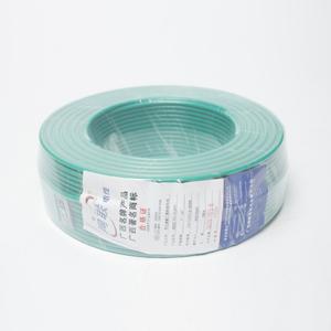 网联 铜芯单塑单股电线 BV 6平方 绿色 100M