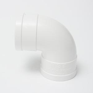 五一PVC排水顺水弯头dn75白色