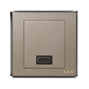 联塑电气 品致 一位HDMI高清电视插座 PZH01