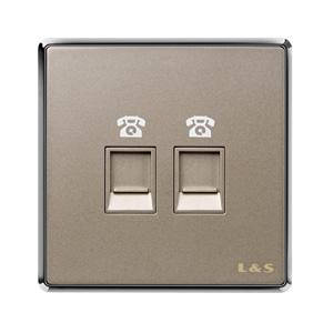 联塑电气 品致 二位电话插座 PZT02