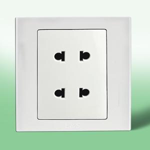 联塑电气 双联二极扁圆两用插座(LV) LV2U
