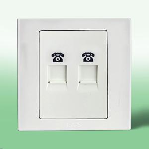联塑电气 LV 二位电话插座 LVT01/2