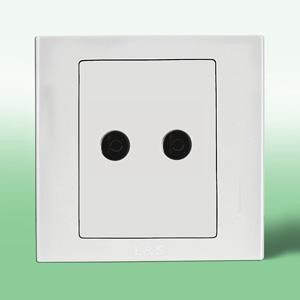 联塑电气 LV 二位电视插座 LV2TV