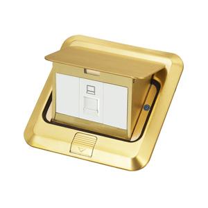 联塑地插座 铜制 地插五孔地插家用多功能地面地板隐藏式插座