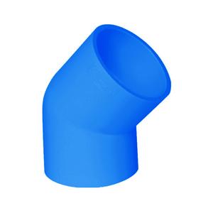 联塑 45°弯头(PVC-U给水配件)蓝色 dn125