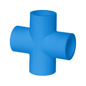 联塑 90°四通(PVC-U给水配件)蓝色 dn20