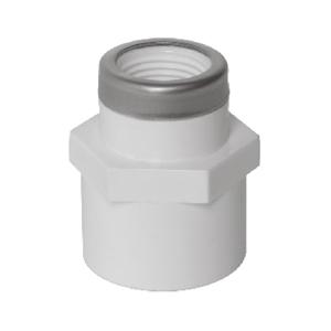 """联塑 内丝异径直接头(带不锈钢箍)PVC-U给水配件白色 dn32XRC1/2"""""""