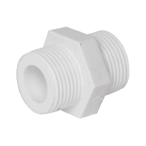 LESSO/联塑PVC给水外牙螺纹直通 20 25 32给水管配件外丝直接头