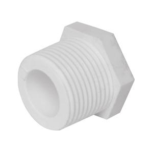"""联塑 外螺纹堵头(PVC-U给水配件)白色 dn1"""""""