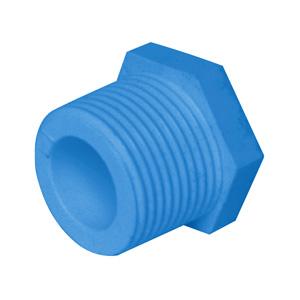 """联塑 外螺纹堵头(PVC-U给水配件)蓝色 dn1"""""""