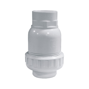 联塑 立式球型止回阀(PVC-U给水配件)白色 dn40