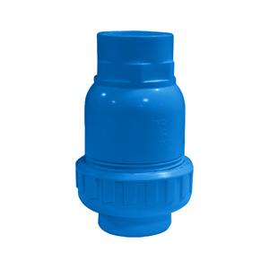 联塑 立式球型止回阀(PVC-U给水配件)蓝色 dn63