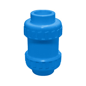 联塑 立式球型(双活接止回阀)(PVC-U给水配件)蓝色 dn50