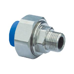 """联塑 承插外螺纹管接头(金属与塑胶)(PE配件)蓝色 dn32X1"""""""