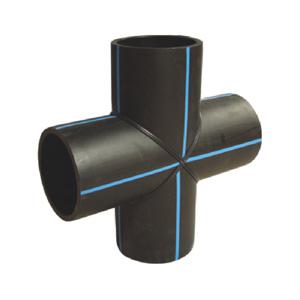 联塑 90°焊接四通1.6MPa(PE配件)黑色 dn200