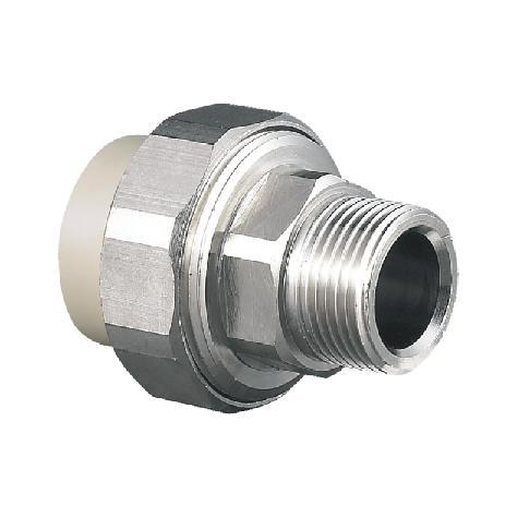 """联塑 外螺纹管接头(金属与塑胶)(PP-R 配件)灰色 dn25×1"""""""
