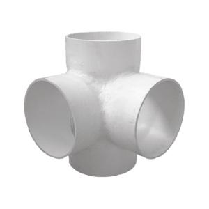 联塑 焊接异径立体四通PVC-U排水配件白色 dn250×200