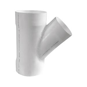 联塑 45°焊接异径斜三通PVC-U排水配件白色 dn400×250
