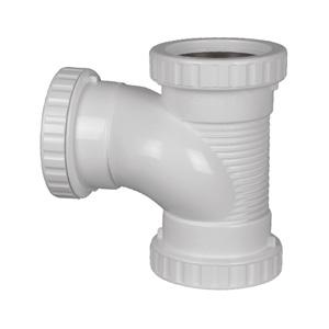 联塑 90°消音三通PVC-U排水配件白色 dn75