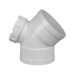 联塑 45°弯头(带检查口)PVC-U排水配件白色 dn200