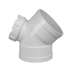 联塑 45°弯头(带检查口)PVC-U排水配件白色 dn50