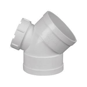 联塑 45°弯头(带检查口)PVC-U排水配件白色 dn75
