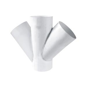 联塑 45°焊接斜四通PVC-U排水配件白色 dn400