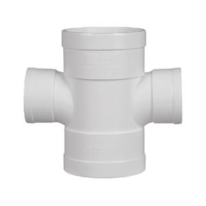 联塑 平面异径四通PVC-U排水配件白色 dn200×160