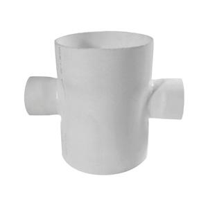 联塑 焊接平面异径四通PVC-U排水配件白色 dn250×160