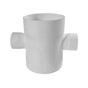 联塑 焊接平面异径四通PVC-U排水配件白色 dn400×110