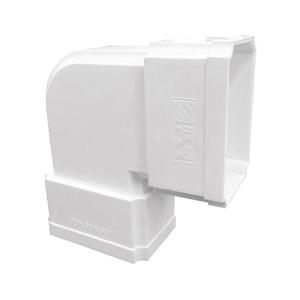 联塑 方管90°弯头(侧面)PVC-U方形雨落水配件白色 dn110×73