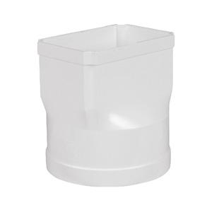 联塑 圆方直接头PVC-U方形雨落水配件白色 dn160×107×160