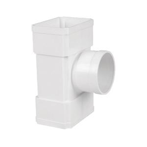 联塑 方接圆三通PVC-U方形雨落水配件白色 dn160×107×110