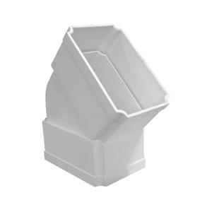 联塑 方管45°弯头(侧面)PVC-U方形雨落水配件白色 dn160×107