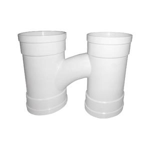 联塑 整体式H型管PVC-U排水配件白色 dn110×110×110