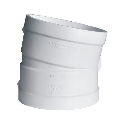 联塑 11.25°偏置弯头PVC-U消音速流单立管排水配件白色 dn110
