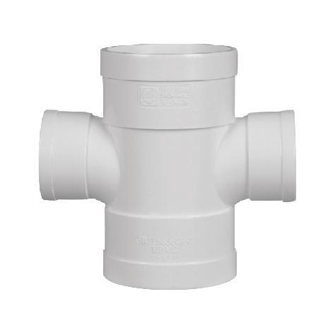 联塑 平面异径四通PVC-U排水配件白色 dn250×200