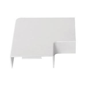 联塑PVC配件平盖板线槽24*14方形线槽配件角弯平弯接头三通堵头